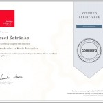 certifikat music production